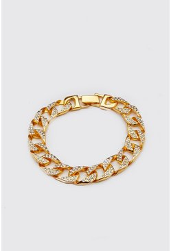 Herr Gold Iced Cuban Chain Bracelet