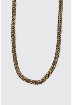 Mens Gold Double Link Cuban Chain