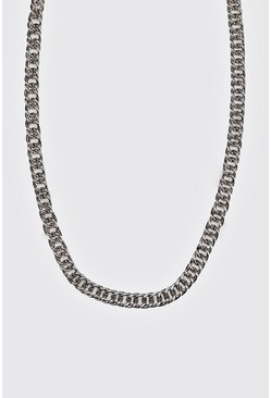 Mens Silver Double Link Cuban Chain