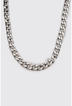 Mens Silver Large Cuban Chain