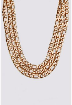 Herr Gold Multi Layer Figaro Chain