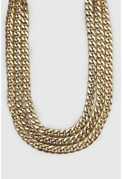 Gold Triple Layer Chain