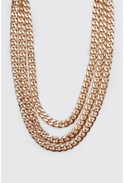 Mens Bronze Triple Layer Chain