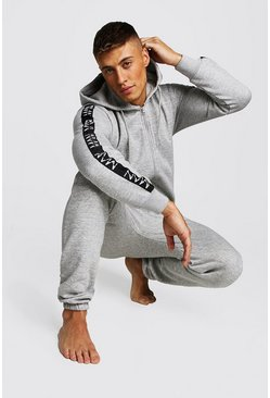 Grey MAN Dash Tape Onesie