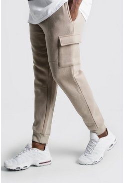 Herr Taupe Big And Tall Skinny Fit Basic Cargo Joggers