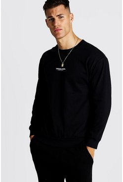 Herr Black Official MAN Print Sweatshirt