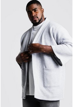Kimono de punto Big And Tall, Marga gris, HOMBRE