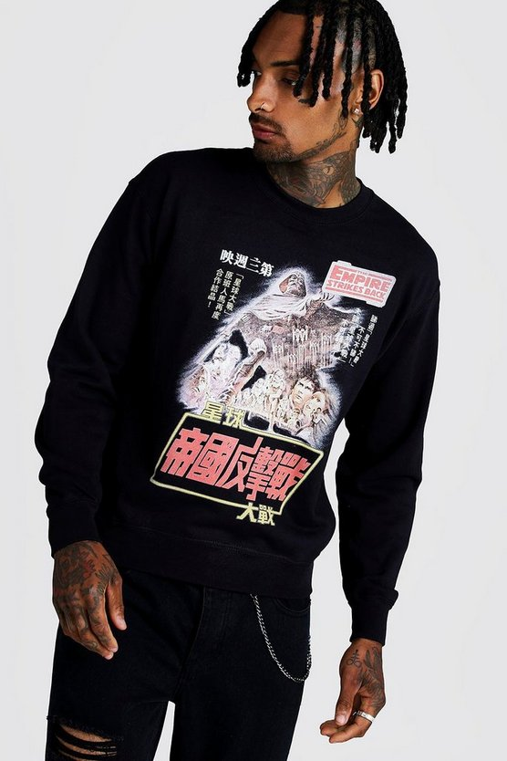 Black Star Wars License Sweatshirt