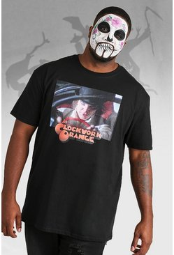 "Big And Tall T-Shirt mit lizenziertem ""Clockwork Orange""-Print, Schwarz"