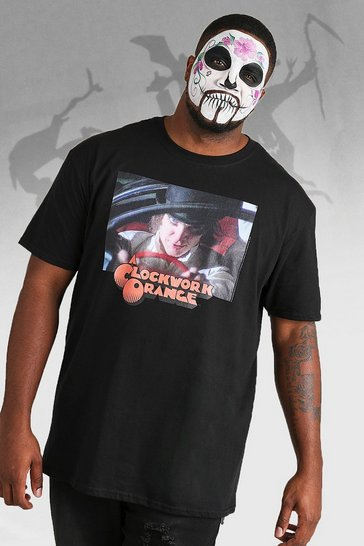 Mens Black Big And Tall Clockwork Orange License T-Shirt