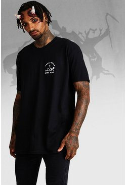 T-Shirt Halloween oversize Sleep When Your Dead, Noir, Homme