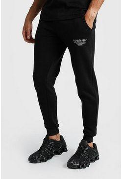 Black MAN X Abode Skinny Fit Jogger