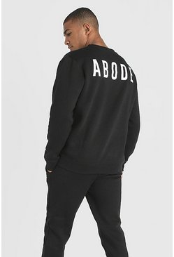 Black MAN X Abode Regular Sweater