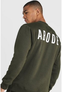 Mens Khaki MAN X Abode Regular Sweater