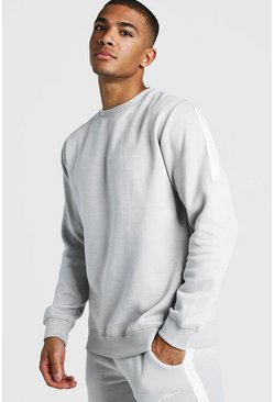 Herr Light grey MAN X Abode Sweater With Tape