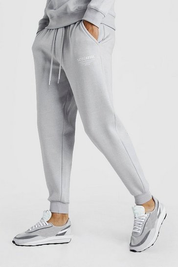 Mens Light grey MAN X Abode Loose Fit Jogger