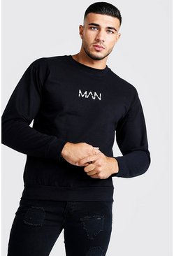 Original MAN Sweater, Black, HERREN