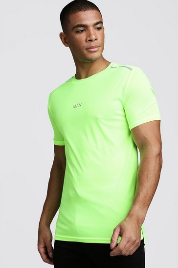 Yellow MAN Active Muscle Fit Neon T-Shirt