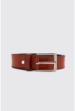 Tan Real Leather Smooth Belt
