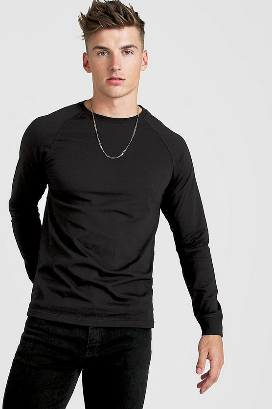 Black Long Sleeve Raglan T-Shirt