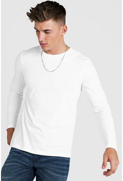 Herr White Long Sleeve Raglan T-Shirt