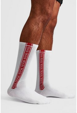 Red 2 Pack MAN Repeat Sock