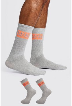 Grey 2 Pack MAN DASH Sock