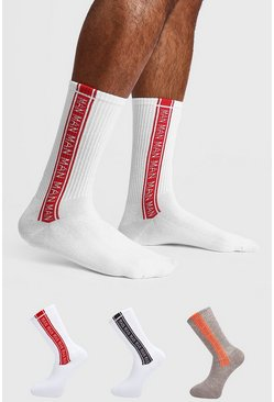 Multi 3 Pack MAN Repeat Sock