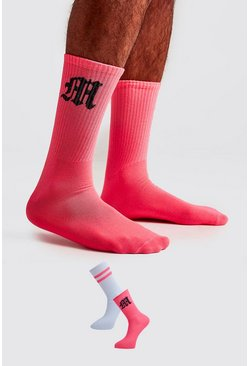 Neon-pink 2 Pack Gothic M Socks