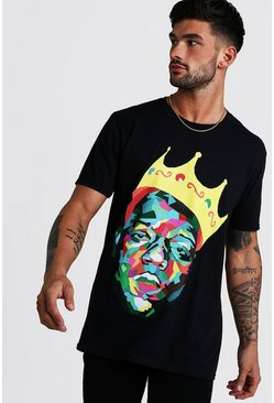 Mens Black Biggie Crown License T-Shirt