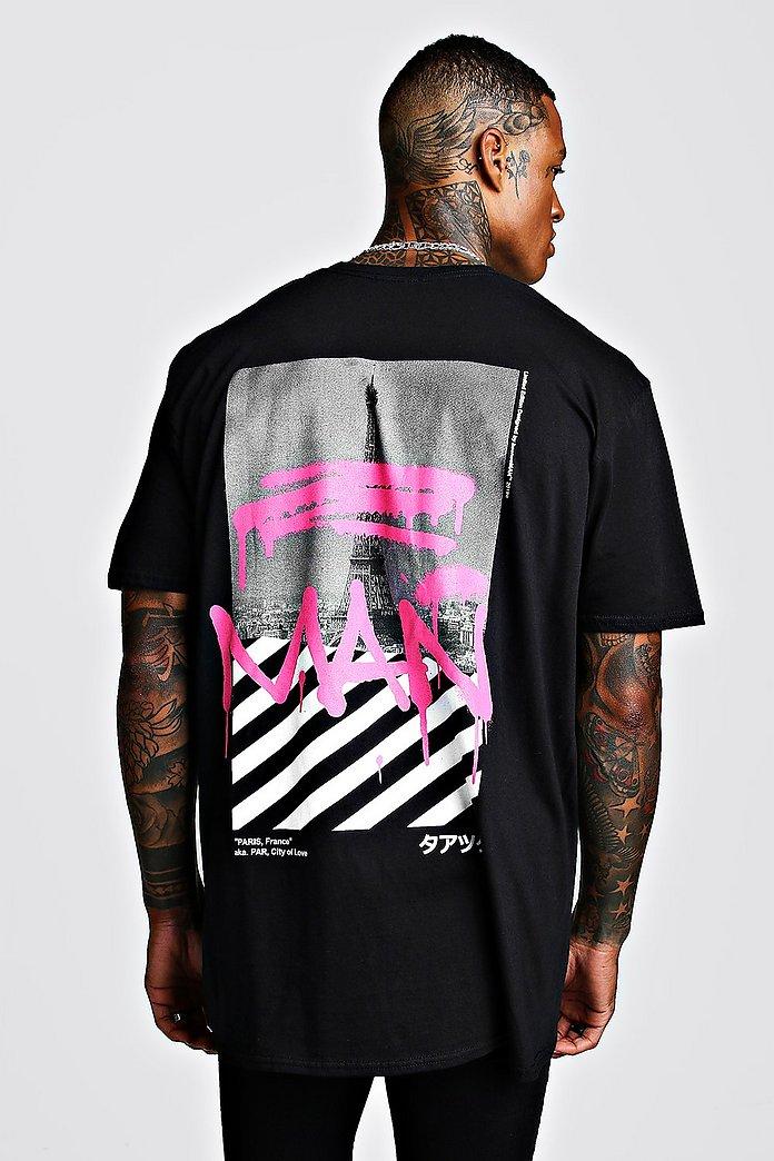 New Colour Fashion S XXL Colourful Graffiti Print Gift Men T shirt