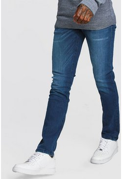 Mens Stonewash Slim Fit Jeans