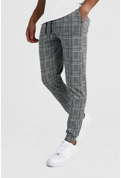 Grey MAN Signature Jacquard Tapered Jogger