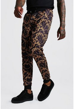 Black Slim Fit Baroque Jogger