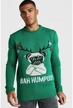 Herr Green BAH Humpug Knitted Christmas Jumper