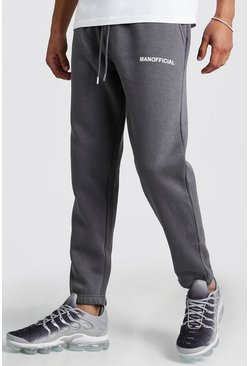Mens Charcoal Man Official Slim Fit Jogger