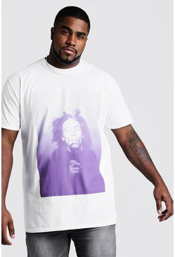 White Big And Tall Bob Marley License T-Shirt