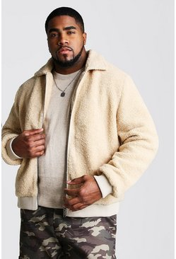Harrington de borreguillo Big And Tall, Crudo