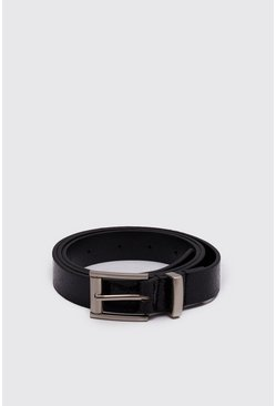 Mens Black Glitter Party Belt