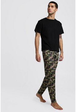 Mens Camo Pant Lounge Set