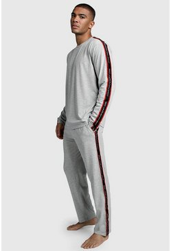 Mens Grey MAN Sport Long Sleeve Cuffed Lounge Set