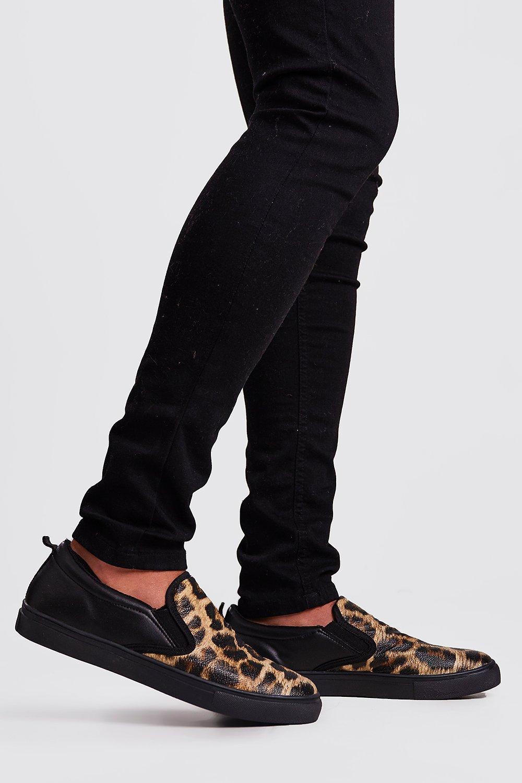 check out d7667 b8995 Scarpe da ginnastica slip on leopardate | Boohoo