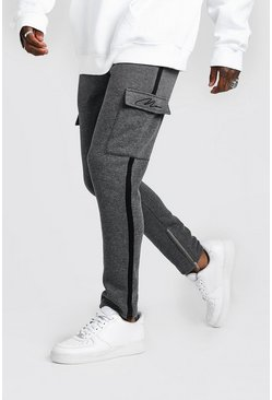 Charcoal MAN Signature Cargo Jogger With Side Tape
