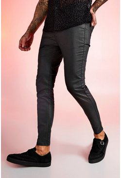 Black Super Skinny Coated Jeans
