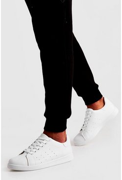 Herr White Lace Up Trainer