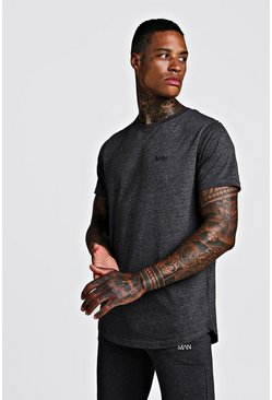 Mens Charcoal MAN Active Basic T-Shirt