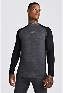 Herr Charcoal MAN Skinny Fit Active Sweater