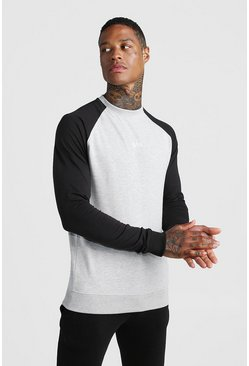 Herr Grey MAN Skinny Fit Active Sweater