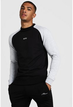 Black MAN Skinny Fit Active Sweater