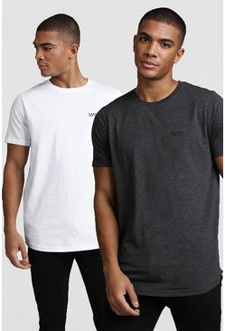 White MAN Active 2 Pack T-Shirt